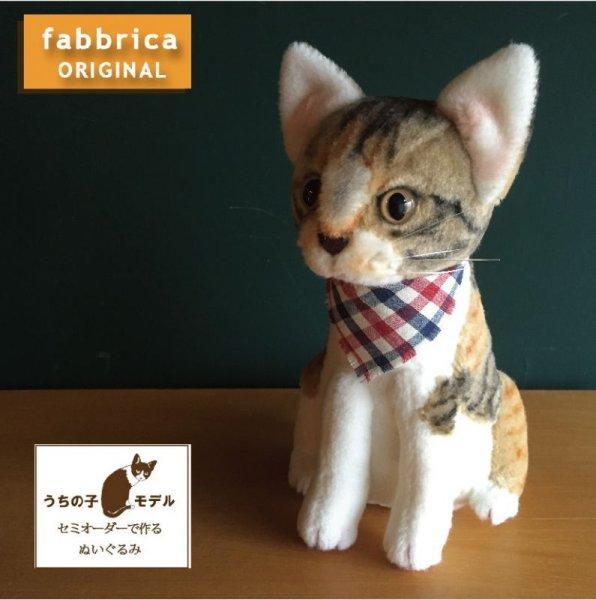 """画像1: """"ねこぬい"""" セミオーダーで作る猫ぬいぐるみ・おすわりポーズ (1)"""